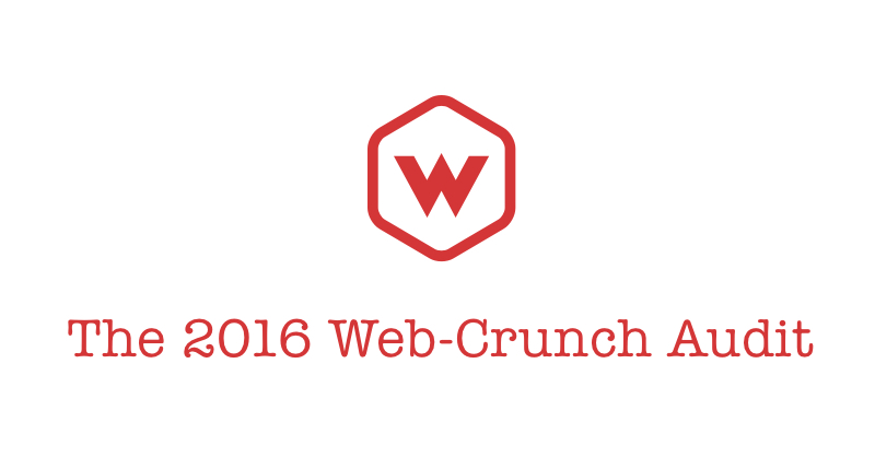 The 2016 Web-Crunch Audit